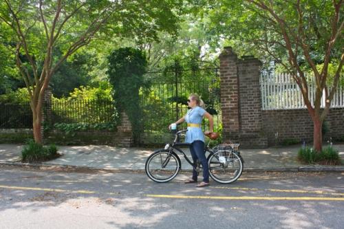 Charlotte Elizabeth on Bike - Alesya Bags
